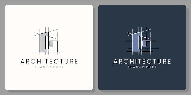 Conception De Logo Et Carte De Visite Architectur Vecteur Premium