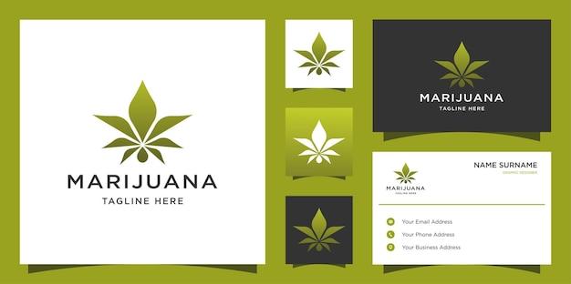 Conception de logo et de carte de visite de cannabis