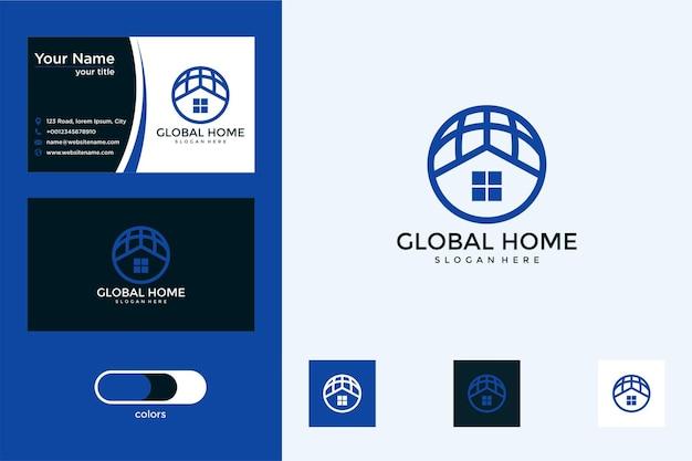 Conception de logo et carte de visite du monde domestique
