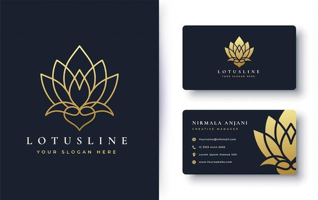 Conception de logo et carte de visite fleur de lotus