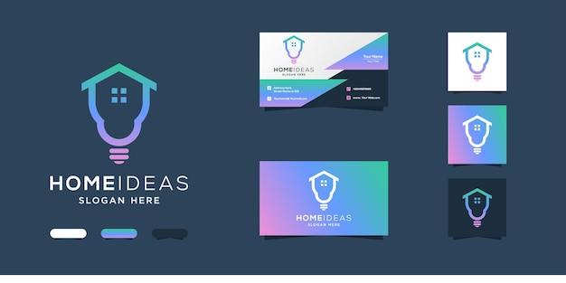 Conception de logo et carte de visite d'idées de maison