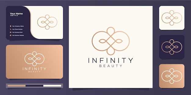 Conception de logo et de carte de visite minimaliste infinity