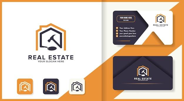 Conception de logo et de carte de visite pour la construction de maisons
