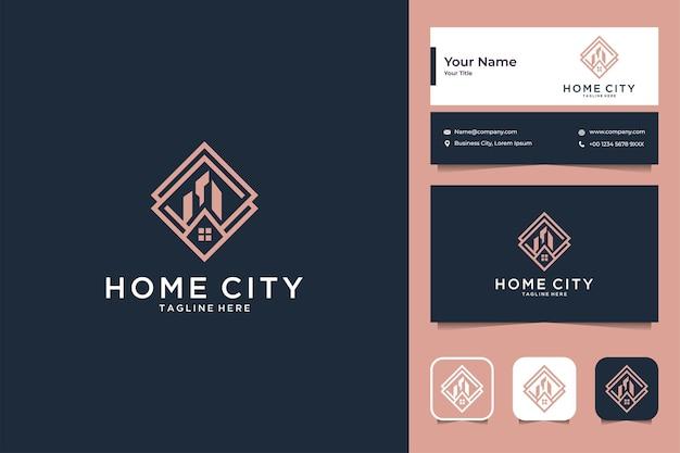 Conception de logo et carte de visite pour l'immobilier de la ville d'origine