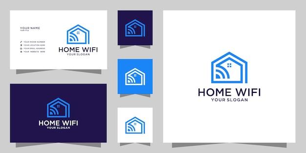 Conception de logo et de carte de visite wifi à la maison