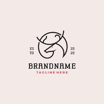 Conception de logo de cerf simple