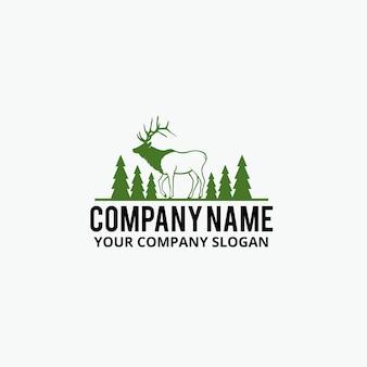 Conception logo de chasse de cerf