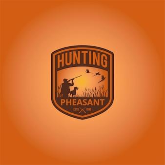 Conception de logo de chasse
