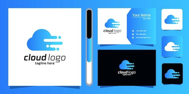 Conception de logo cloud et carte de visite