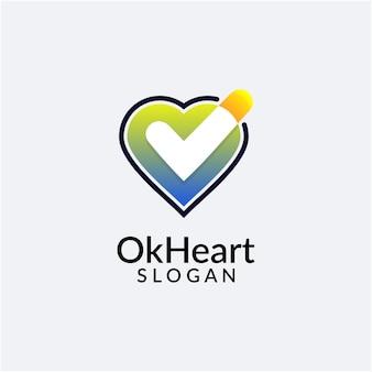 Conception de logo de coeur