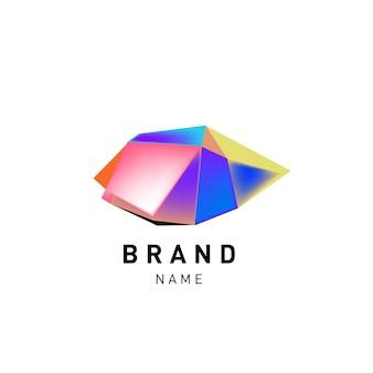 Conception de logo coloré abstrait vectoriel