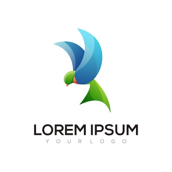 Conception de logo coloré oiseau abstrait moderne