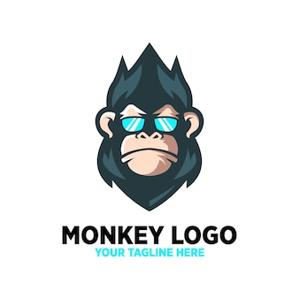 Conception de logo cool de singe