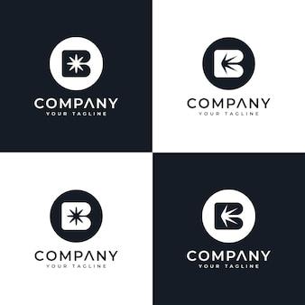Conception de logo créatif de visage de papillon et modèle de carte de visite vecteur premium