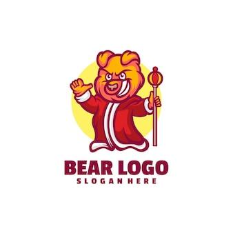 Conception de logo de dessin animé ours