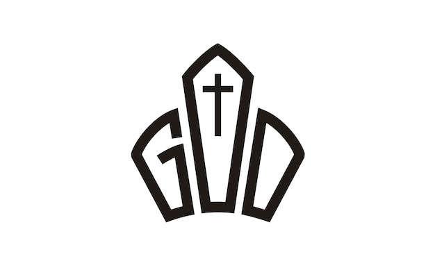 Conception de logo dieu jésus couronne église