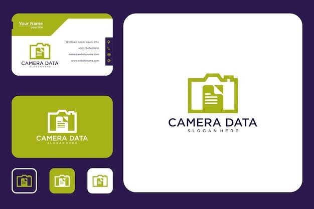 Conception de logo de données de caméra et carte de visite
