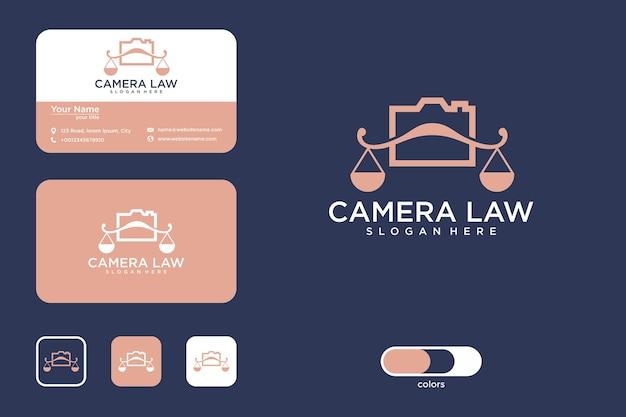 Conception de logo de droit de la caméra et carte de visite