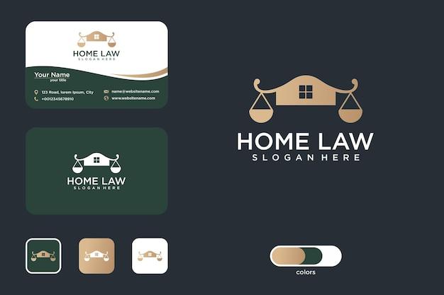 Conception de logo de droit à domicile et carte de visite