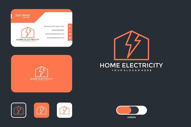 Conception de logo électrique domestique et carte de visite