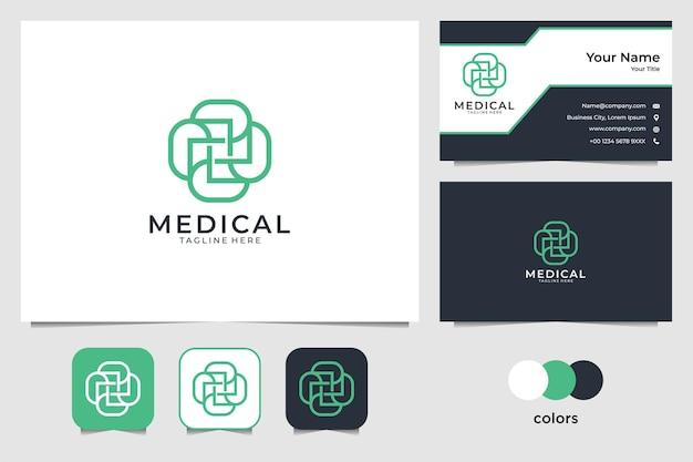 Conception de logo élégant or nature et modèle de carte de visite