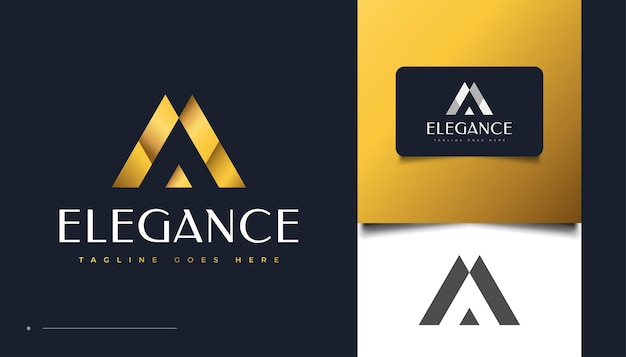 Conception de logo élégante lettre a avec concept abstrait pour l'identité de l'entreprise