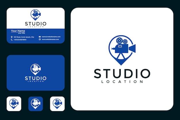 Conception de logo d'emplacement de studio et cartes de visite