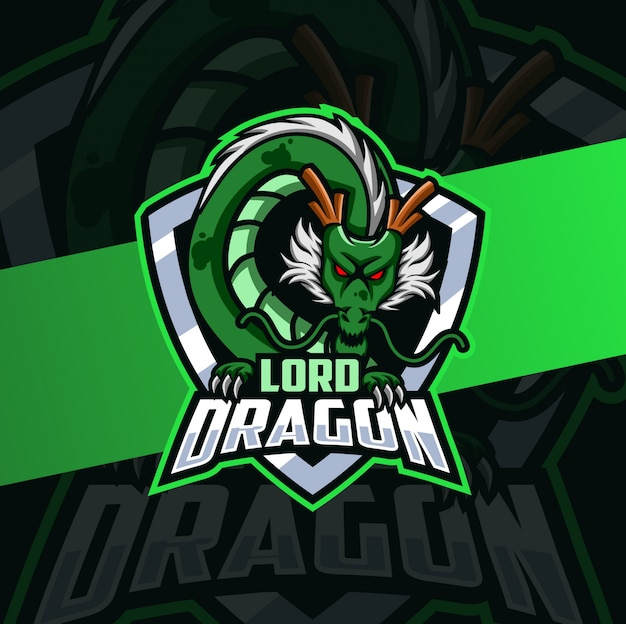 Conception de logo esport mascotte seigneur dragon