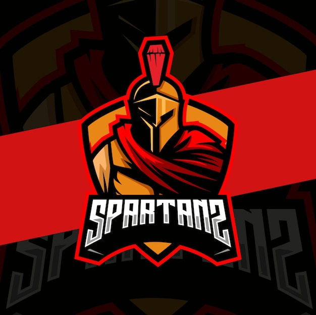Conception de logo esport mascotte spartiate