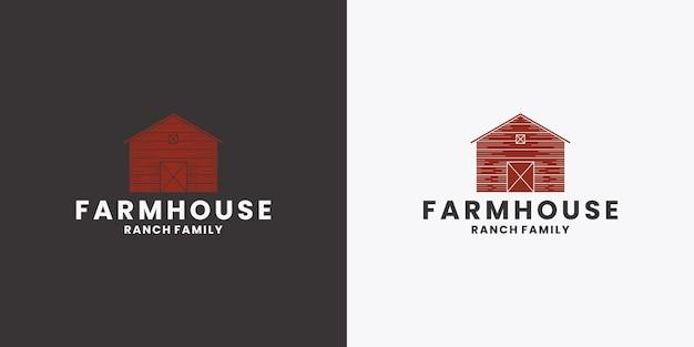Conception de logo de ferme agriculture, maison, agriculture