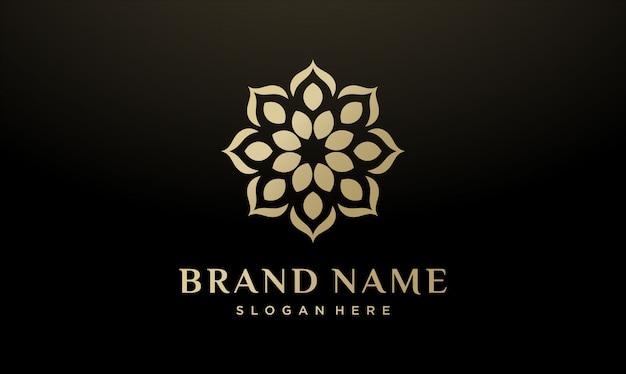 Conception de logo de fleur abstraite beauté / mode