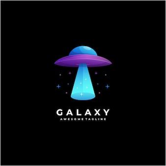 Conception de logo galaxie résumé moderne coloré