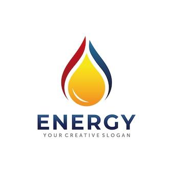 Conception de logo de gaz et de pétrole