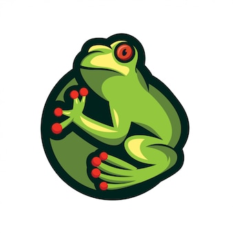 Conception de logo grenouille