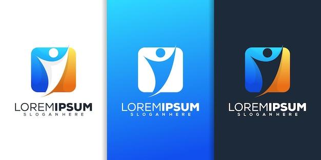 Conception de logo humain moderne