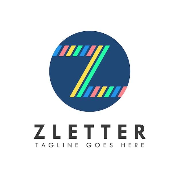 Conception de logo et icône de lettre alphabet z
