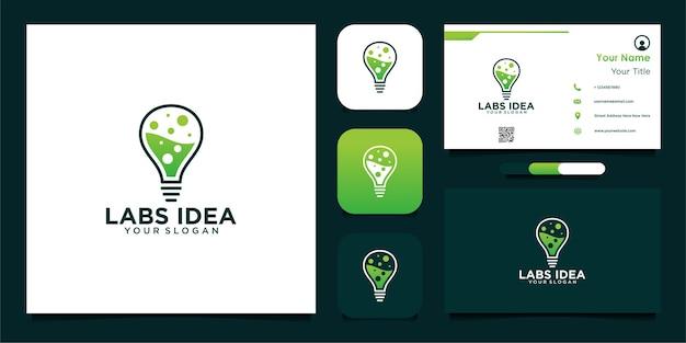 Conception de logo d'idée de laboratoires et cartes de visite