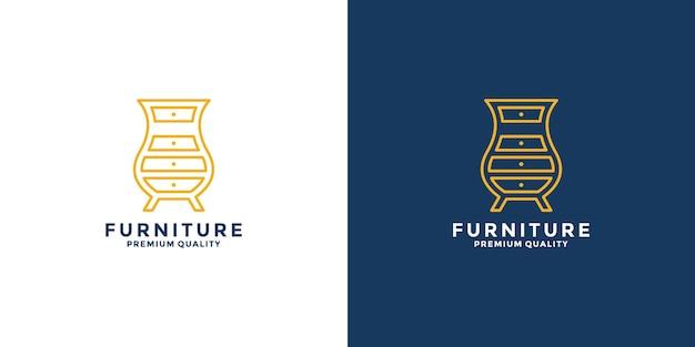 Conception de logo d'idée de mobilier pour votre propriété d'entreprise, intérieur, immobilier, rénovation, etc.
