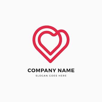 Conception de logo infinity heart