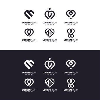 Conception de logo de jeu d'amour