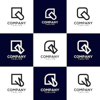 Conception de logo de jeu de lettre q