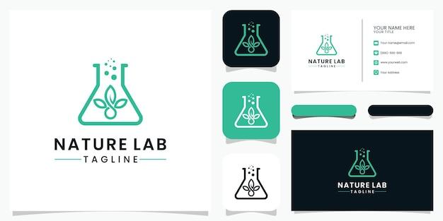 Conception de logo de laboratoire de la nature et carte de visite