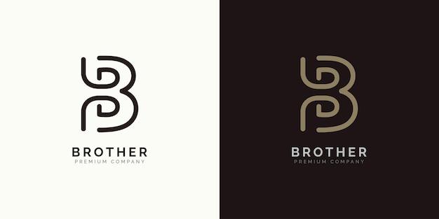Conception de logo lettre b concept de design de marque initiale b