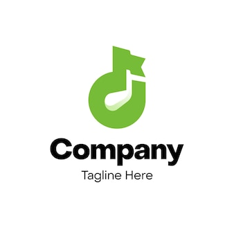 Conception de logo de lettre d de bâton de golf