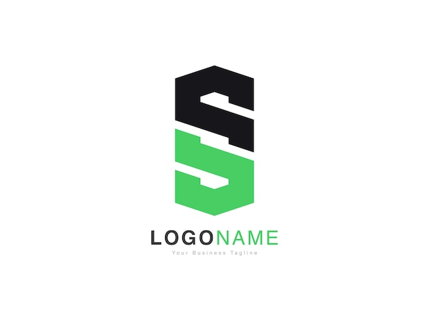 Conception de logo de lettre initiale s os et so moderne