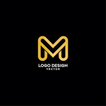 Conception de logo lettre monogramme or m