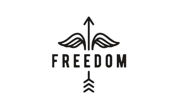 Conception de logo line art hipster freedom
