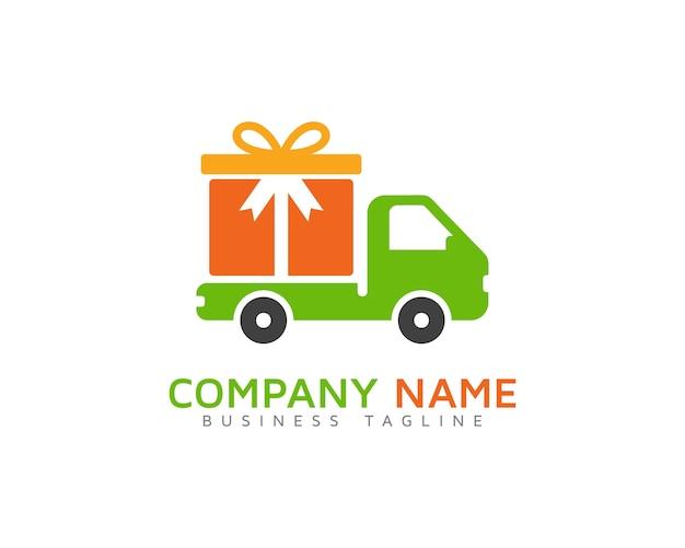 Conception de logo de livraison de cadeaux