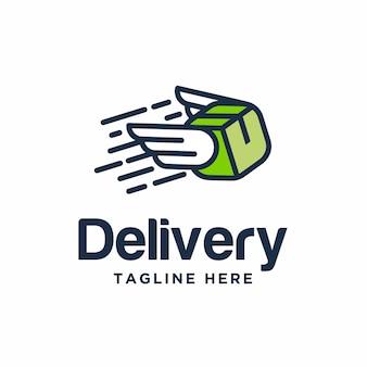 Conception de logo de livraison