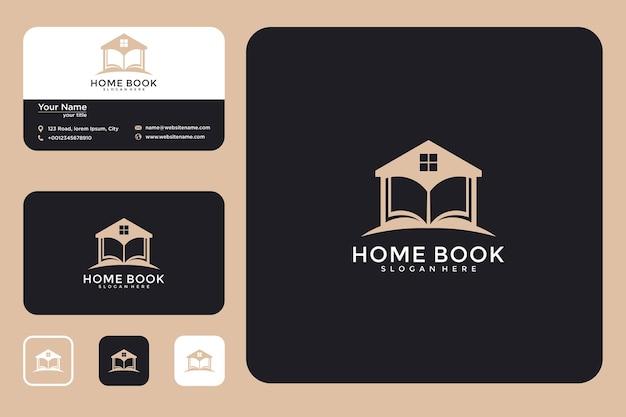 Conception de logo de livre à la maison et carte de visite